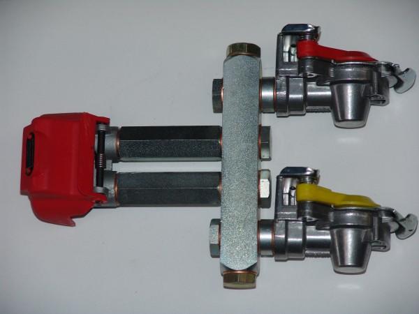 Duomatic Kupplung mit Kupplungsköpfen